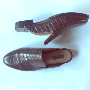 Crock patterned slides, loafers, flats, slip-ons.